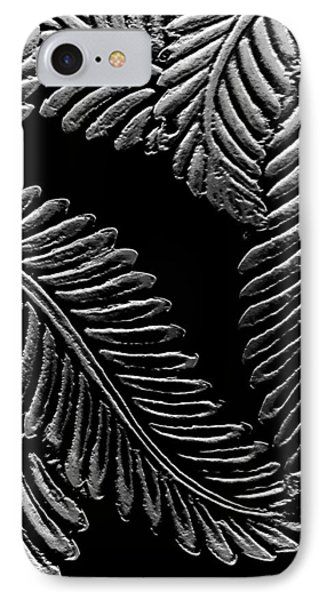 Black And White Leaves Phone Case by Tanya Moody