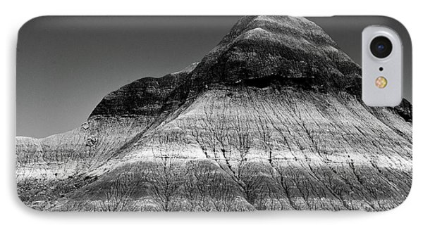 Black And White Painted Desert Phone Case by Bob and Nadine Johnston