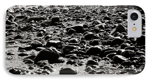 Black And White Rocky Beach IPhone Case by Anthony Doudt