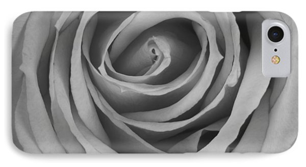 Black And White Spiral Rose Petals Phone Case by James BO  Insogna