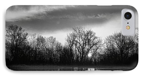 Black And White Sunrise Over Water Phone Case by James BO  Insogna
