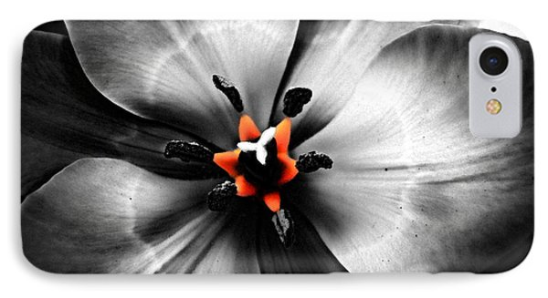 Black And White With A Glow Of Color IPhone Case