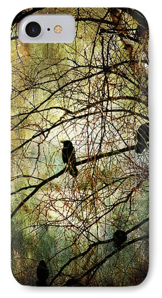 Black Birds IPhone Case by John Rivera