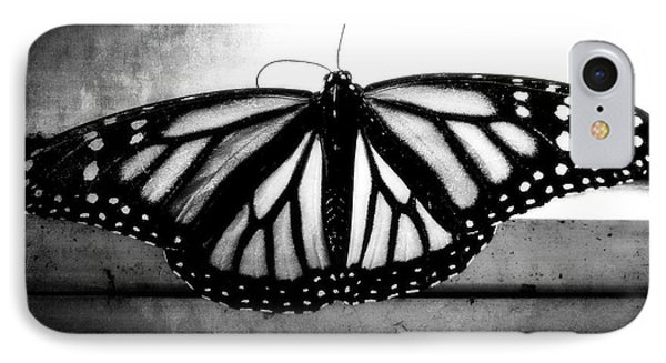 IPhone Case featuring the photograph Black Butterfly by Julia Wilcox