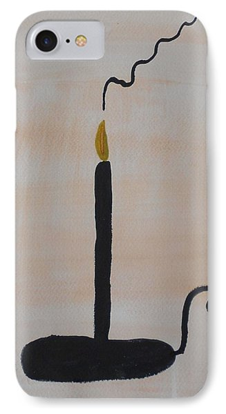 Black Candle IPhone Case