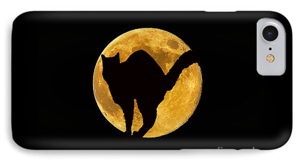 Black Cat Moon Phone Case by Al Powell Photography USA