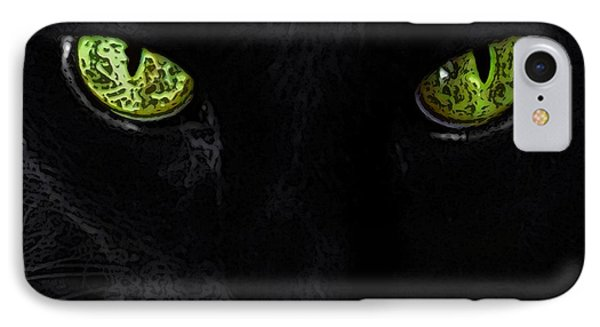 Black Cat Mystique Phone Case by Dale   Ford