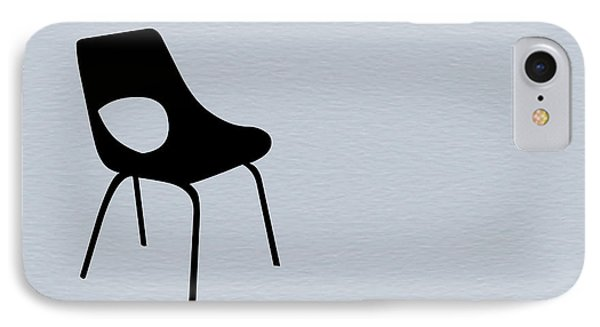 Black Chair IPhone Case by Naxart Studio