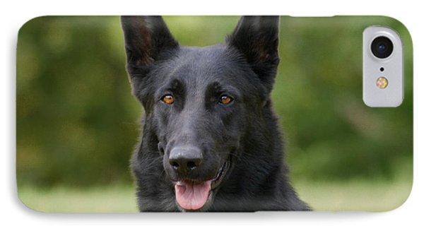 Black German Shepherd - Storm Phone Case by Sandy Keeton