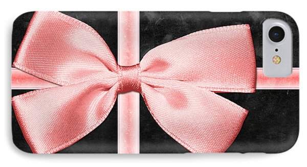 Black Gift Box With Pink Bow IPhone Case