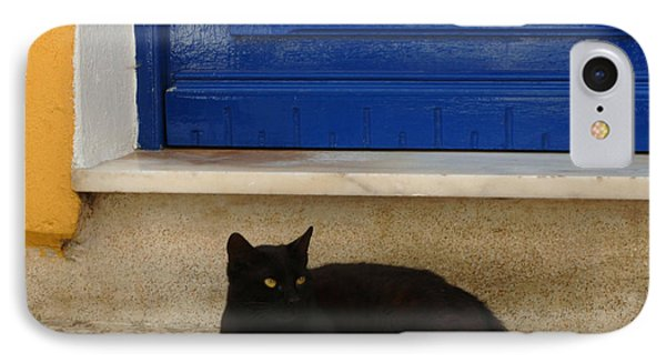 Black Greek Cat IPhone Case by Bob Christopher
