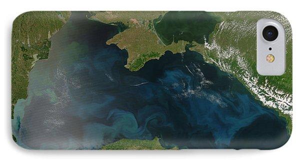 Black Sea Phytoplankton Phone Case by Nasa