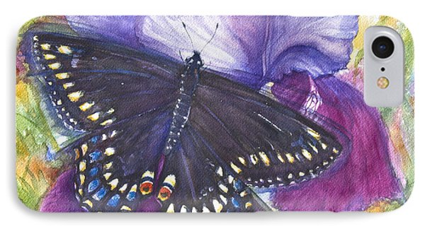 Black Swallowtail Butterfly Phone Case by Patricia Allingham Carlson