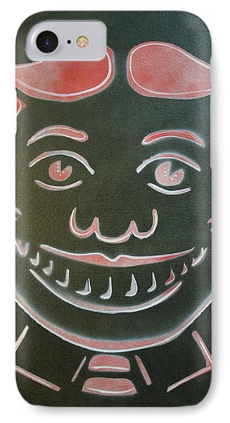 Black Tilly With Red And White Phone Case by Patricia Arroyo