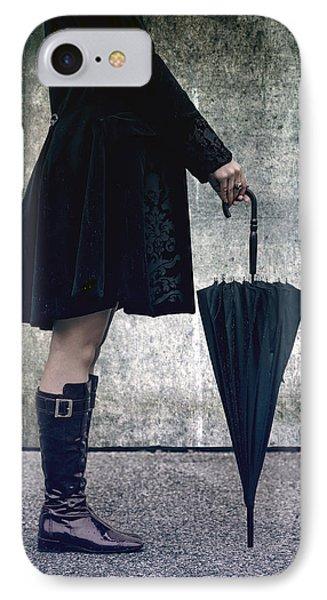 Black Umbrellla Phone Case by Joana Kruse