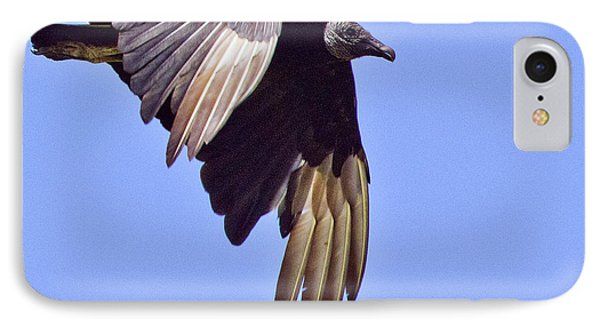 Black Vulture Phone Case by Roger Wedegis