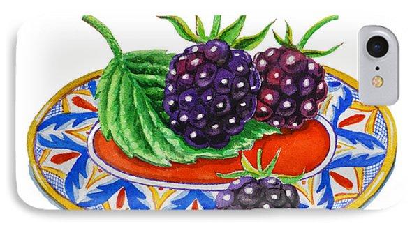 Blackberries Phone Case by Irina Sztukowski