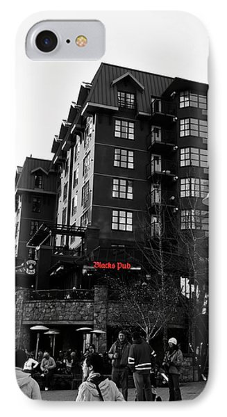 Blacks Pub Whistler Canada IPhone Case by JM Photography