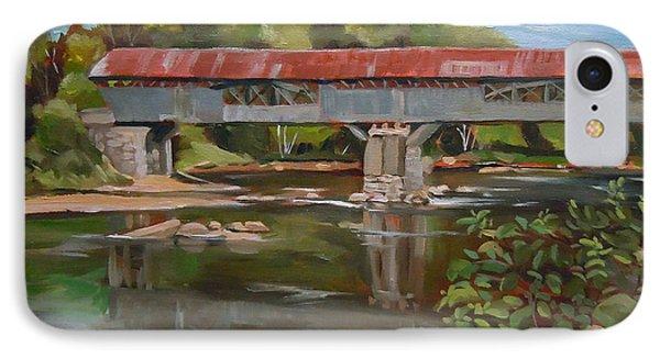 Blair Bridge Campton New Hampshire IPhone Case by Nancy Griswold