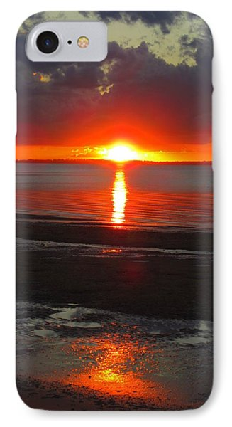 IPhone Case featuring the photograph Blazing Sunset by Ramona Johnston