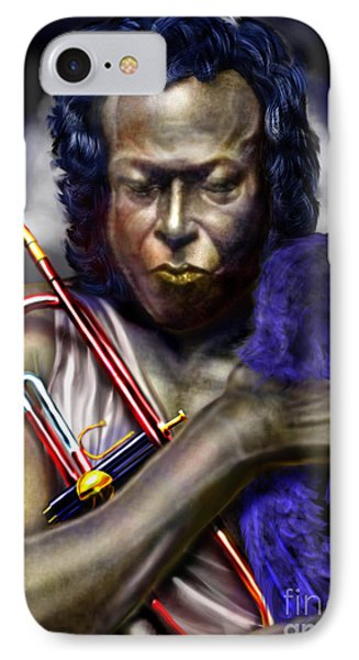 Blessings And Curses - Miles Davis Phone Case by Reggie Duffie
