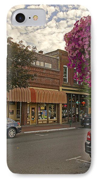 Blind Georges And Laughing Clam On G Street In Grants Pass IPhone Case by Mick Anderson