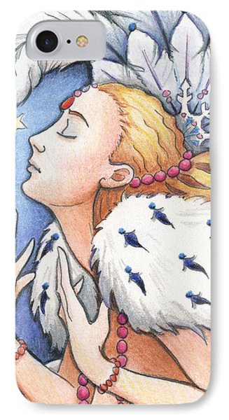 Blissful Winter Phone Case by Amy S Turner