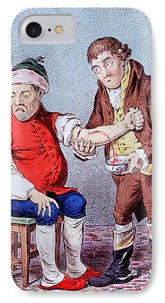Bloodletting-1804 Phone Case by Science Source