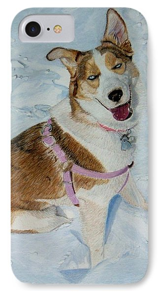 Blue - Siberian Husky Dog Painting IPhone Case