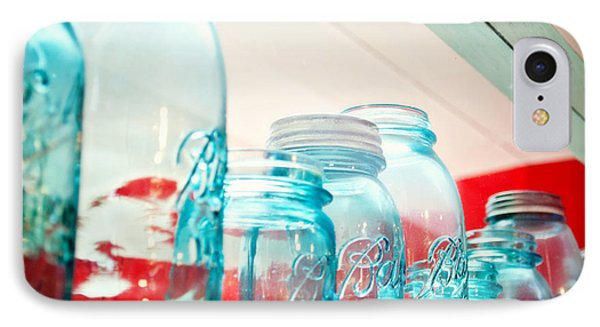 Blue Ball Canning Jars Phone Case by Paulette B Wright