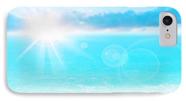 Blue Beach Background Phone Case by Anna Om