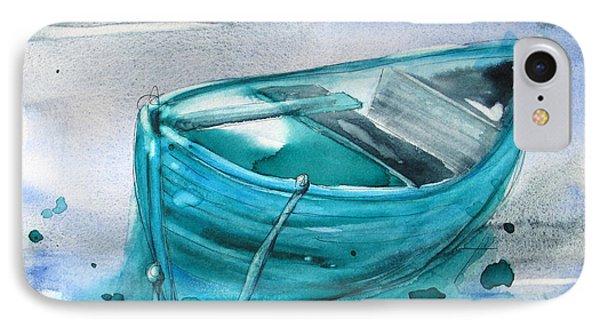 Blue Boat IPhone Case by Dawn Derman