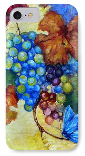 Blue Butterflies And Grapevine  Phone Case by Peggy Wilson