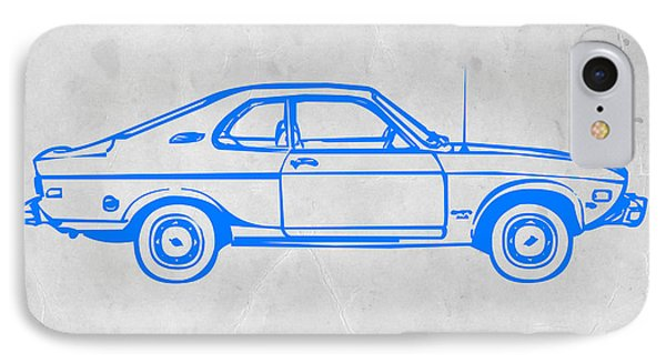 Blue Car IPhone Case by Naxart Studio