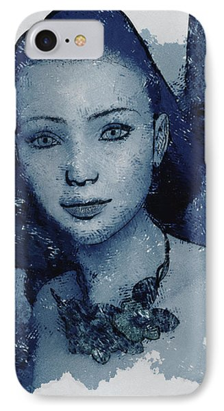 Blue Fae IPhone Case by Maynard Ellis