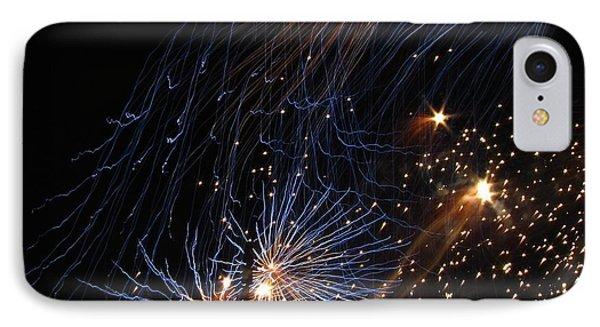 Blue Fireworks IPhone Case
