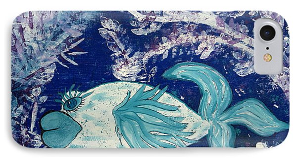 Blue Fish Called Flow IPhone Case