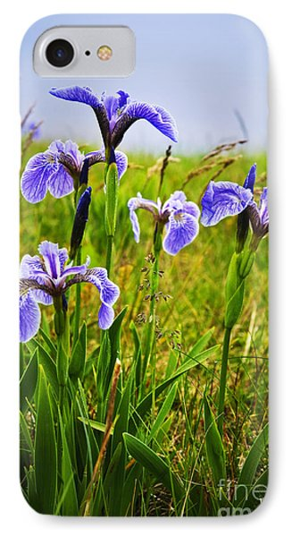 Blue Flag Iris Flowers Phone Case by Elena Elisseeva