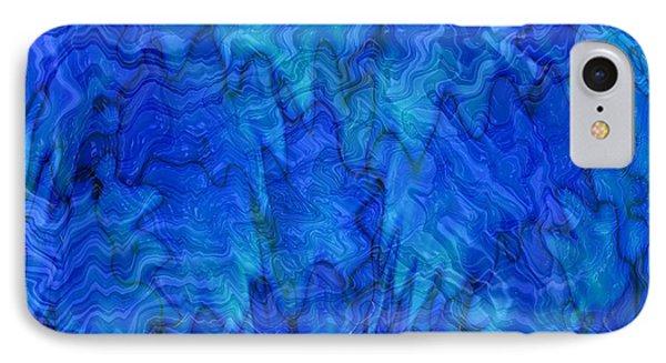 Blue Glass - Abstract Art Phone Case by Carol Groenen