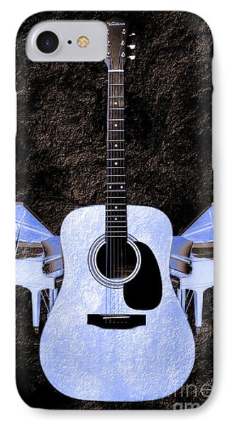 Blue Guitar Butterfly Phone Case by Andee Design