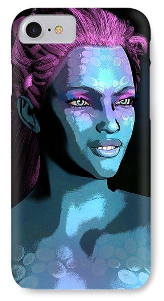 IPhone Case featuring the digital art Blue Halo by Maynard Ellis