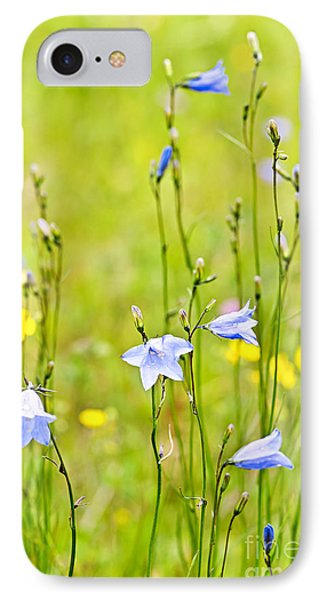 Blue Harebells Wildflowers Phone Case by Elena Elisseeva