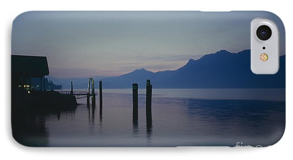 Blue Hour At Dawn On Lago Maggiore Phone Case by Heiko Koehrer-Wagner