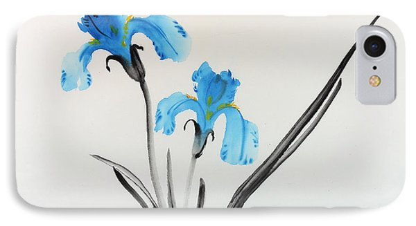 Blue Iris I IPhone Case by Yolanda Koh