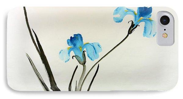 blue iris II IPhone Case by Yolanda Koh