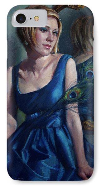Blue Phone Case by Jean Hildebrant