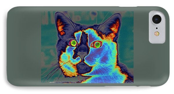 Blue Kitty IPhone Case