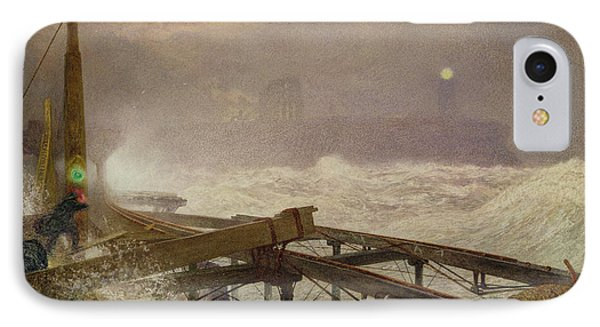 Blue Lights - Teignemouth Pier Phone Case by Alfred William Hunt