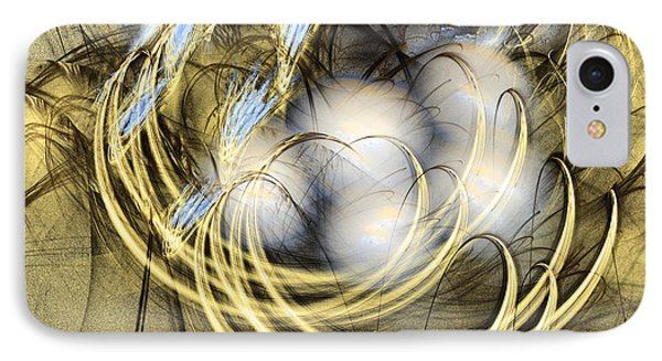 Blue Lullaby - Fractal Art Phone Case by Sipo Liimatainen