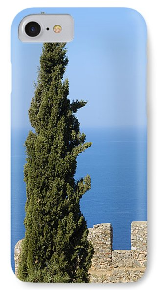 Blue Ocean And Sky Green Tree - Serene And Calming  Phone Case by Matthias Hauser
